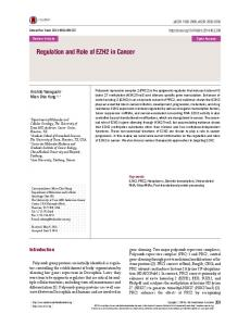 Regulation and Role of EZH2 in Cancer - Semantic Scholar