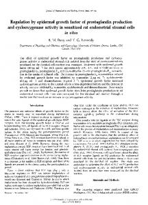 Regulation by epidermal growth factor of prostaglandin ... - Reproduction