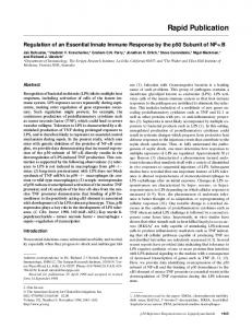 Regulation of an essential innate immune response by the p50 ...