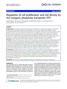 Regulation of cell proliferation and cell density by the ... - PURE