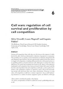 regulation of cell survival and proliferation by cell ... - Semantic Scholar