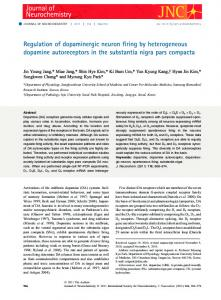 Regulation of dopaminergic neuron firing by ... - Wiley Online Library