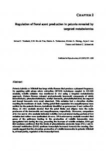 Regulation of floral scent production in petunia