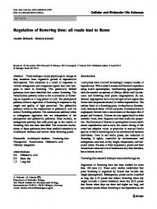 Regulation of flowering time: all roads lead to Rome - Estruturas ...