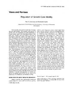 Regulation of growth cone motility - Wiley Online Library
