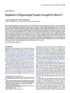 Regulation of Hippocampal Synaptic Strength by Glial xCT - Journal of ...