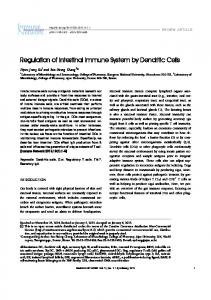Regulation of Intestinal Immune System by