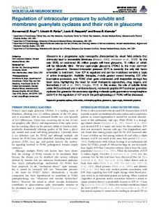 Regulation of intraocular pressure by soluble and ... - BioMedSearch