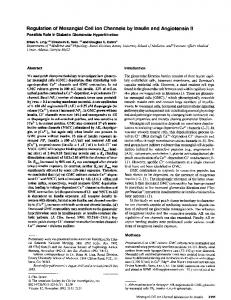 Regulation of mesangial cell ion channels by insulin and angiotensin ...