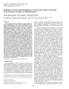 Regulation of Myometrial Phospholipase C System and Uterine ...
