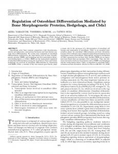 Regulation of Osteoblast Differentiation Mediated by Bone ...