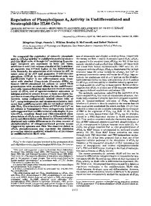 Regulation of phospholipase A2 activity in undifferentiated and ...