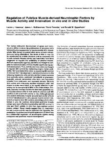Regulation of Putative Muscle-derived Neurotrophic Factors by Muscle ...