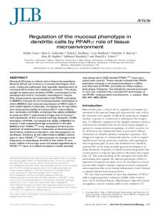 Regulation of the mucosal phenotype in dendritic cells by ... - CiteSeerX