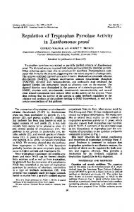 Regulation of Tryptophan Pyrrolase Activity - Journal of Bacteriology