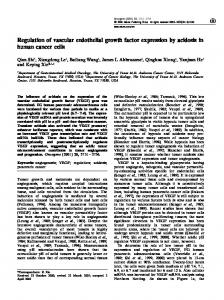 Regulation of vascular endothelial growth factor expression ... - Nature