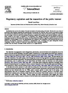 Regulatory capitalism and the reassertion of the public interest