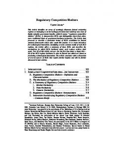 Regulatory Competitive Shelters - Moritz College of Law