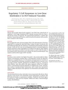 Regulatory T-Cell Responses to Low-Dose Interleukin
