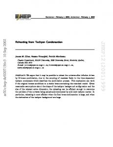 Reheating from Tachyon Condensation