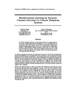 Reinforcement Learning for Dynamic Channel Allocation ... - CiteSeerX