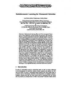 Reinforcement Learning for Humanoid Robotics