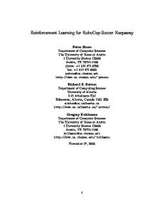 Reinforcement Learning for RoboCup-Soccer Keepaway