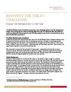 REINVENT THE TOILET CHALLENGE - Eoos