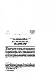 Reinventing the hierarchy: strategy and control in ... - Semantic Scholar