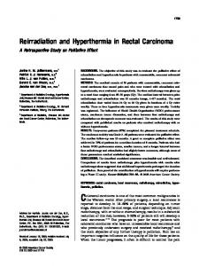Reirradiation and hyperthermia in rectal ... - Wiley Online Library
