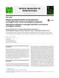 Relapsing polychondritis and lymphocytic meningitis with ... - Scielo.br