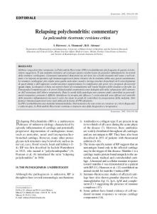 Relapsing polychondritis: commentary - Semantic Scholar