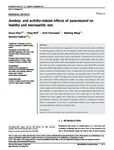 related effects of paracetamol on healthy and ... - Wiley Online Library