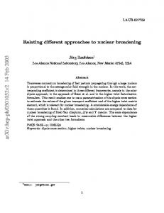 Relating different approaches to nuclear broadening
