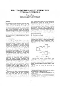 relating interoperability testing with conformance