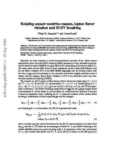 Relating seesaw neutrino masses, lepton flavor violation and SUSY