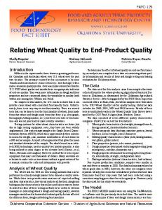 Relating Wheat Quality to End-Product Quality - OSU Small Grains ...