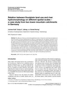 Relation between floodplain land use and river