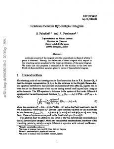 Relation Between Hyperelliptic Integrals
