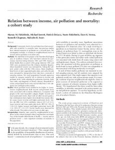 Relation between income, air pollution and mortality: a cohort study