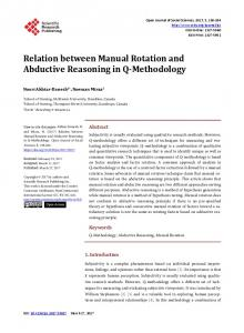 Relation between Manual Rotation and Abductive Reasoning in Q ...