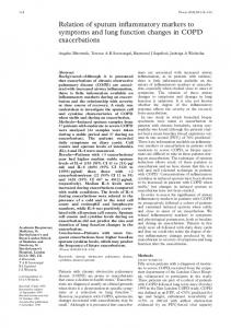 Relation of sputum inflammatory markers to symptoms and ... - NCBI