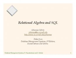 Relational Algebra and SQL