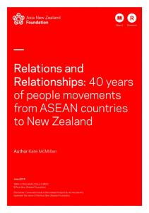Relations and Relationships - Asia New Zealand Foundation