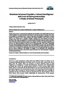 Relations between Prejudice, Cultural Intelligence and Level of ... - Eric