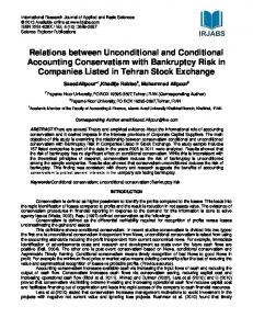 Relations between Unconditional and Conditional