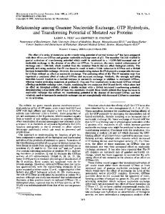 Relationship among Guanine Nucleotide Exchange, GTP Hydrolysis ...