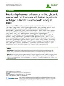 Relationship between adherence to diet, glycemic control and ...