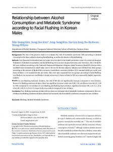 Relationship between Alcohol Consumption and ... - KoreaMed Synapse