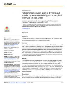 Relationship between alcohol drinking and arterial ... - PLOS